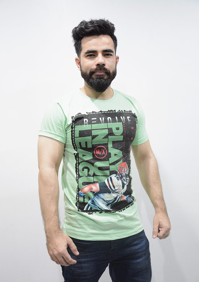 Cotton Graphic T-shirt UK League