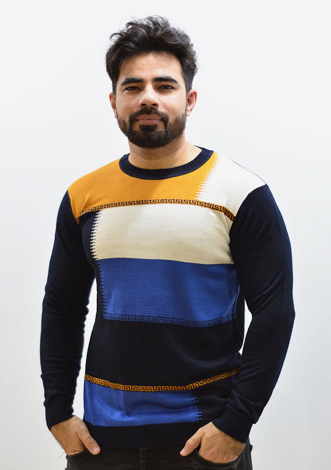 Crew Neck Colorblock Fleece Sweatshirt